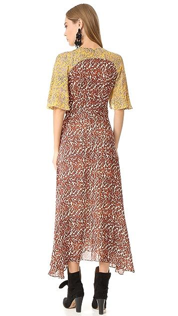 Derek Lam 10 Crosby Maxi Dress with Flutter Sleeves