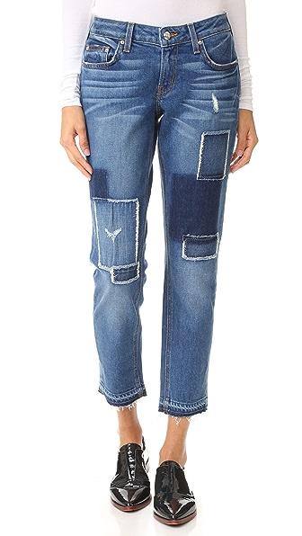 Derek Lam 10 Crosby Mila Mid Rise Slim Boyfriend Jeans - Medium Wash at Shopbop