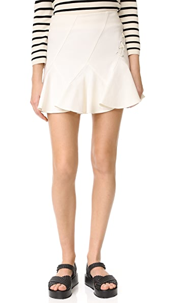 Derek Lam 10 Crosby Flare Miniskirt with Lacing