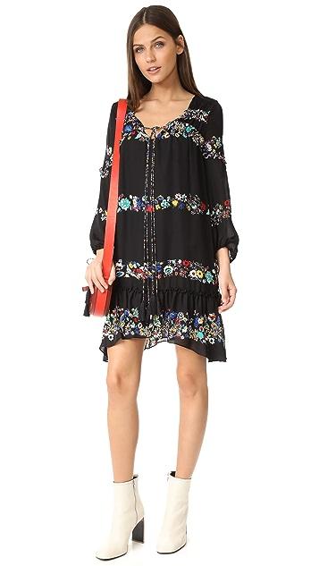 Derek Lam 10 Crosby Bell Sleeve Ruffle Dress