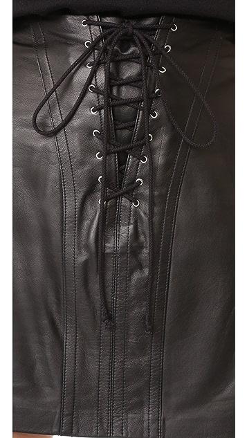Derek Lam 10 Crosby Miniskirt with Lacing