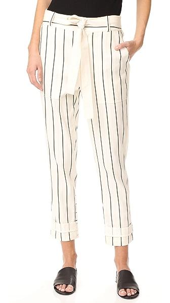 Фото Derek Lam 10 Crosby Практичные брюки с кулиской. Купить с доставкой