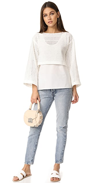Derek Lam 10 Crosby Crochet 2-in-1 Top
