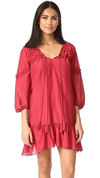 Фото Derek Lam 10 Crosby Платье с оборками и расклешенными рукавами. Купить с доставкой