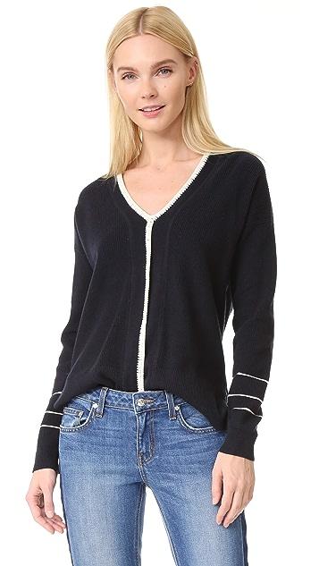 Derek Lam 10 Crosby Sweater with Blanket Stitch