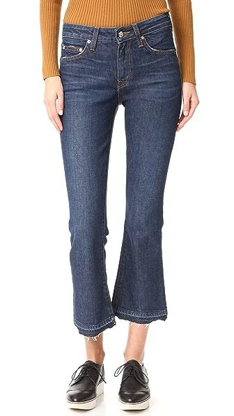 Derek Lam 10 Crosby Gia Mid Rise Crop Flare Jeans