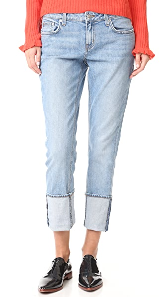 Derek Lam 10 Crosby Mila Slim Boyfriend Cuffed Jeans - Light Wash