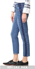 Mila Tuxedo Stripe Boyfriend Jeans Derek Lam 10 Crosby