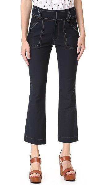 Derek Lam 10 Crosby Utility Cropped Flare Trousers