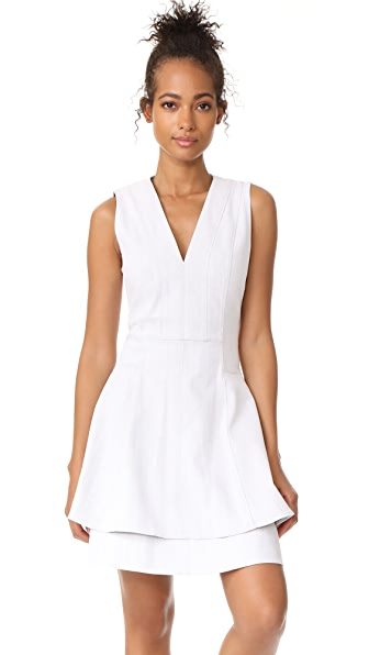 Derek Lam 10 Crosby Fit & Flare Dress - Chalk