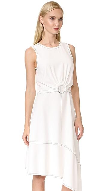 Derek Lam 10 Crosby Sleeveless Dress with Ring Detail