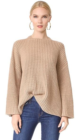 Derek Lam 10 Crosby Crossover Sweater In Camel