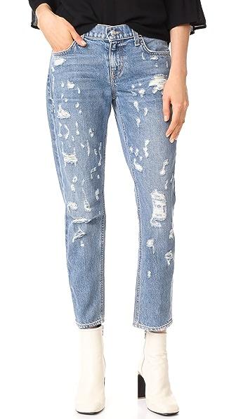 Derek Lam 10 Crosby Mila Boyfriend Distressed Jeans In Light Wash