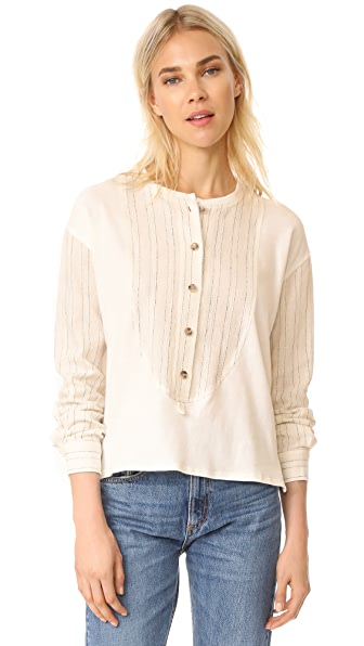 Derek Lam 10 Crosby Mixed Media Henley