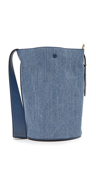 Derek Lam 10 Crosby Grove Bucket Bag In Denim/Navy