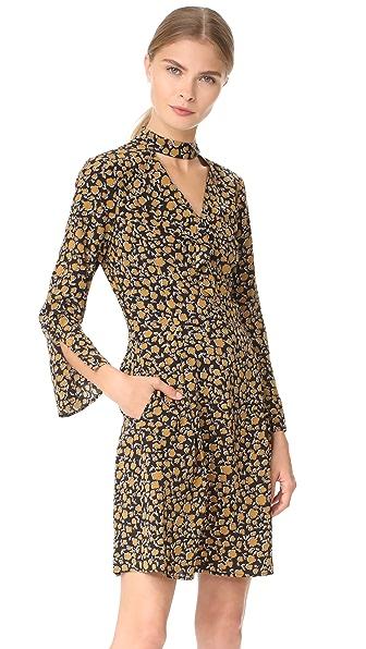 Derek Lam 10 Crosby Cascade Shift Dress with Bell Sleeves