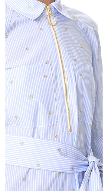 Derek Lam 10 Crosby Belted Ruffle Shirtdress
