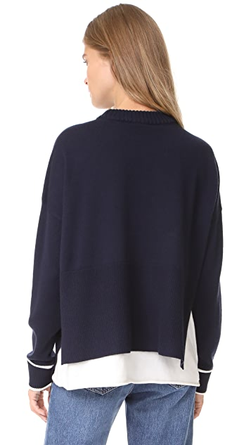 Derek Lam 10 Crosby Sweater with Asymmetrical Hem