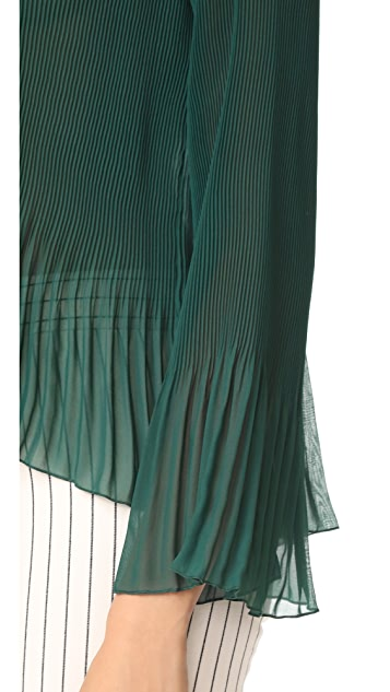 Derek Lam 10 Crosby Pleated Blouse