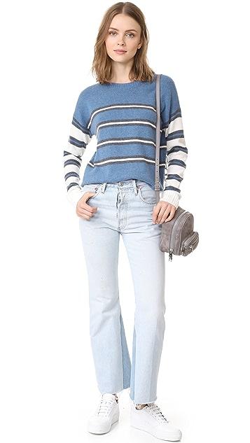 Derek Lam 10 Crosby Striped Crew Neck Sweater