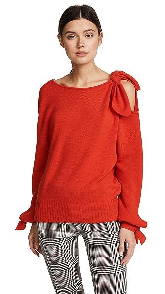 Derek Lam 10 Crosby Cashmere Sweater with Tie Detail