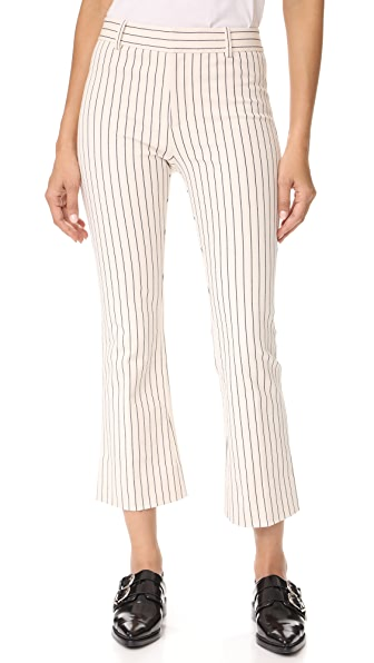 Derek Lam 10 Crosby Cropped Flare Trousers In Cream
