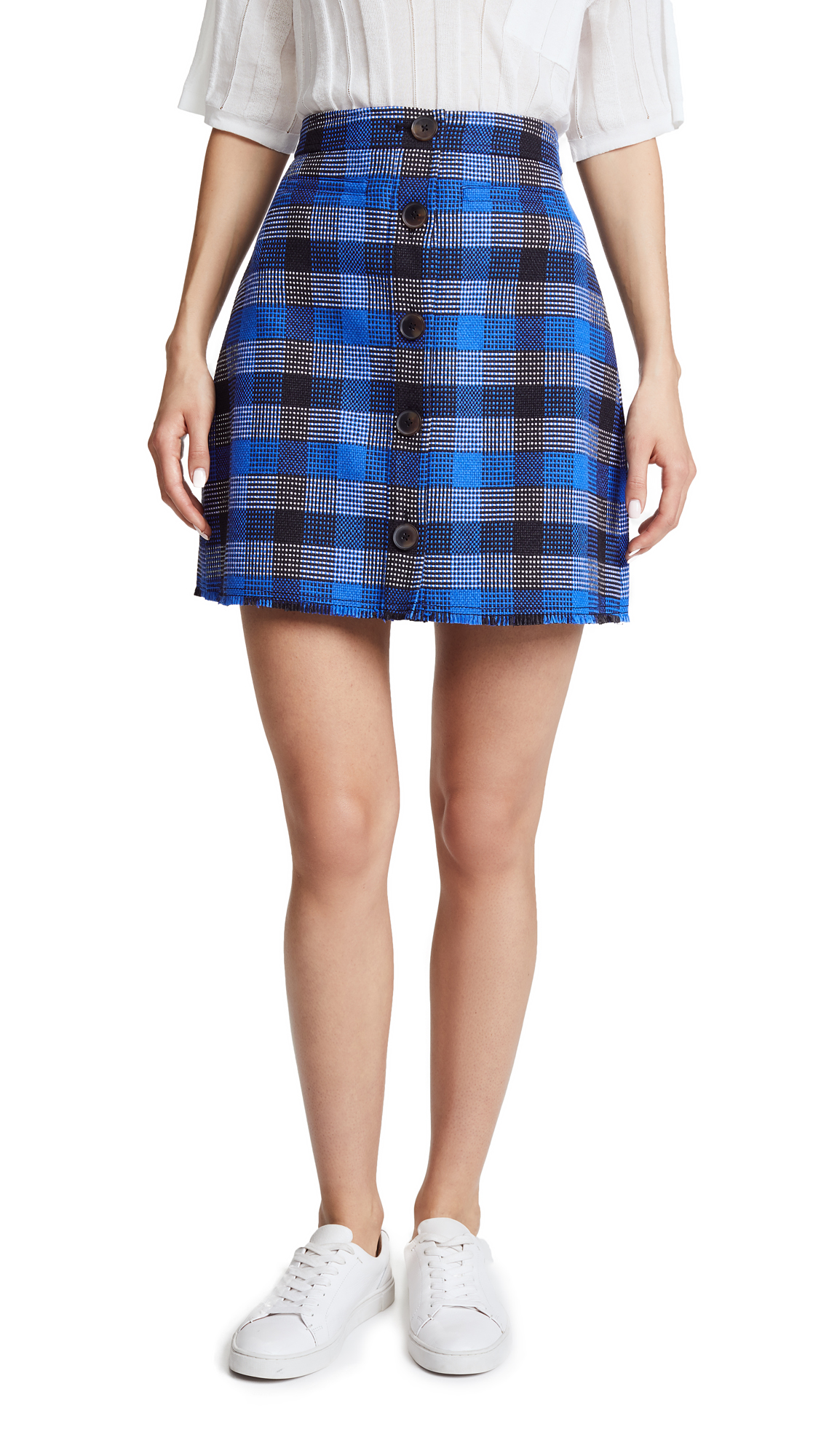 Derek Lam 10 Crosby Miniskirt In Blue