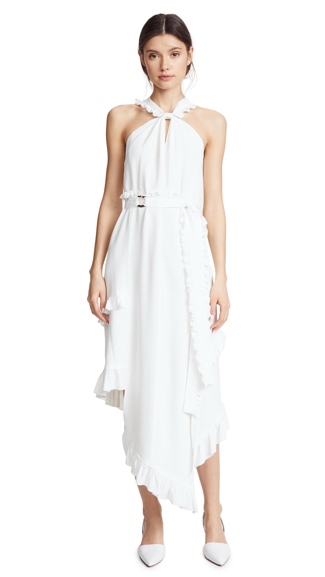 Derek Lam 10 Crosby Asymmetrical Halter Dress
