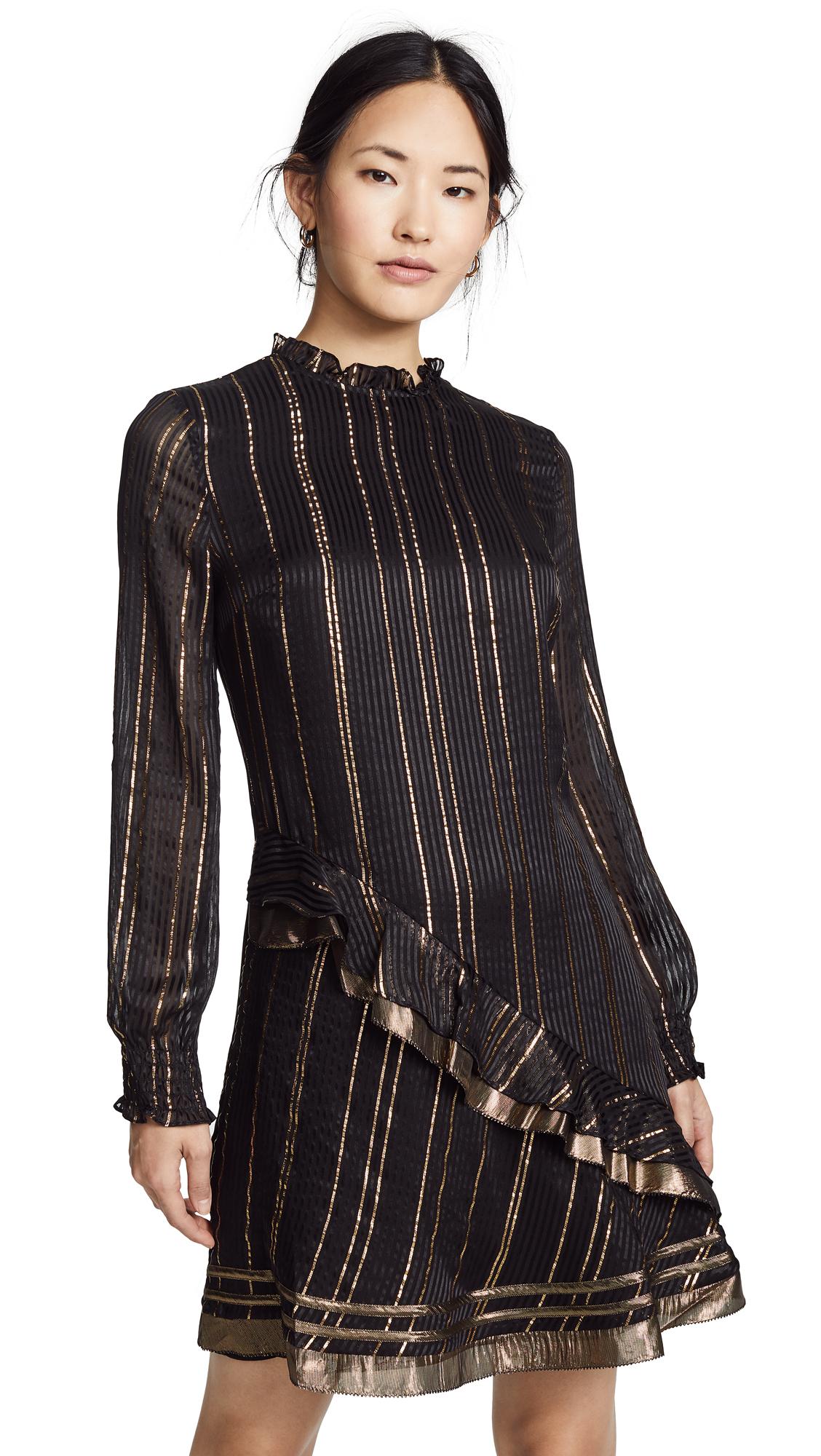 Derek Lam 10 Crosby Ruffle Collar Dress - Black