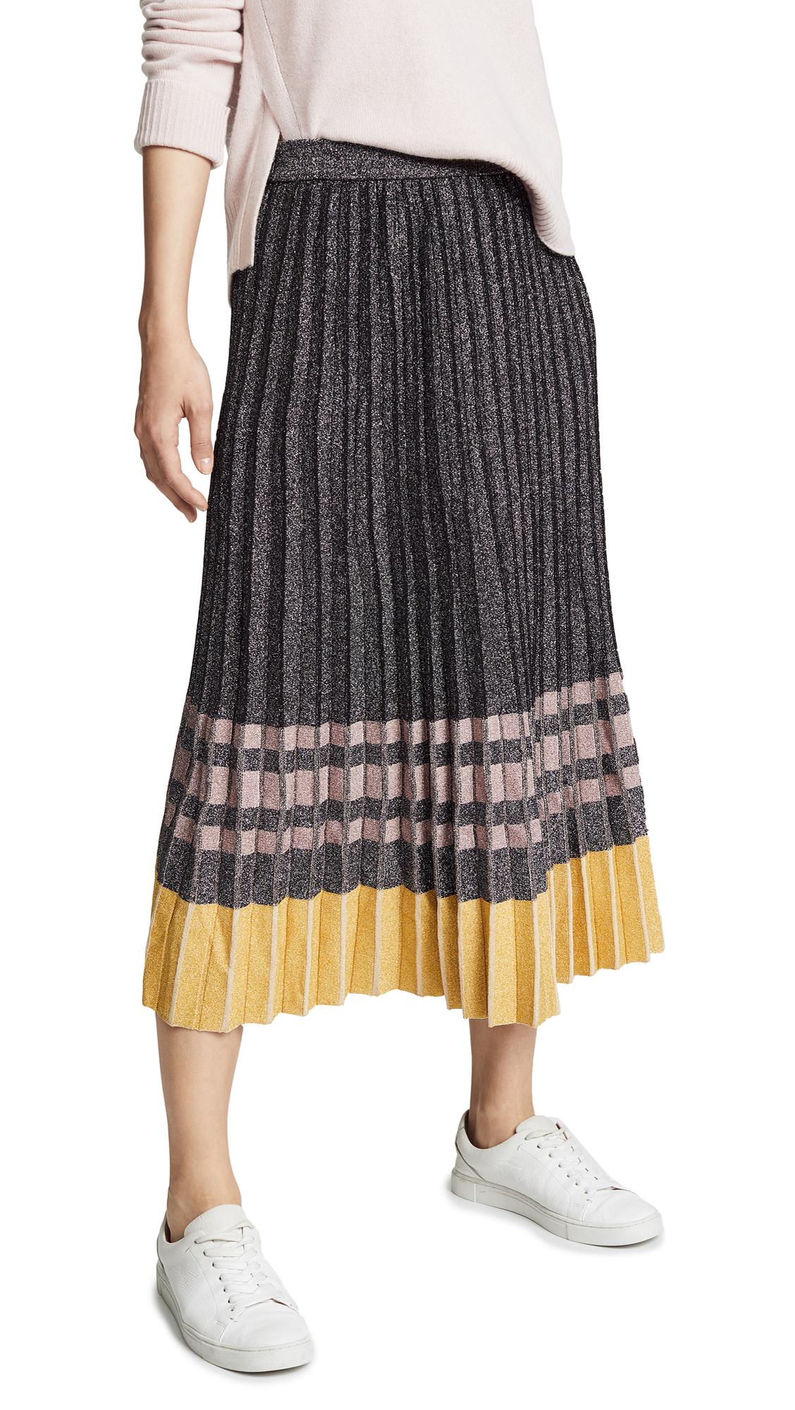 c53f228a41 Derek Lam 10 Crosby Pleated Metallic Knit Skirt   SHOPBOP