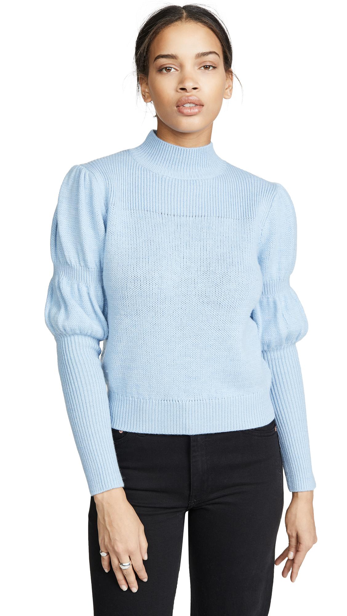 Derek Lam 10 Crosby Puff Sleeve Sweater - Blue