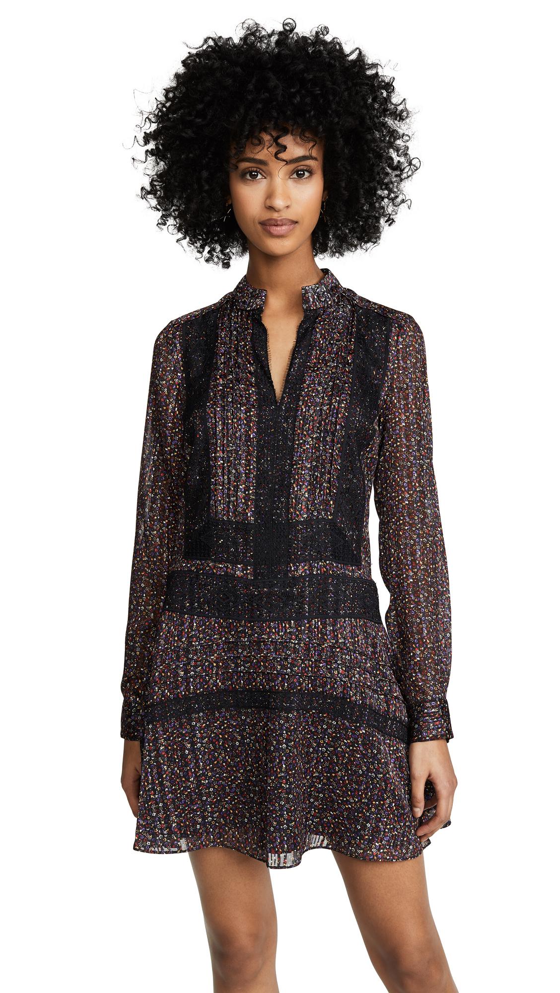 Derek Lam 10 Crosby Shift Dress with Lace Detail - Black