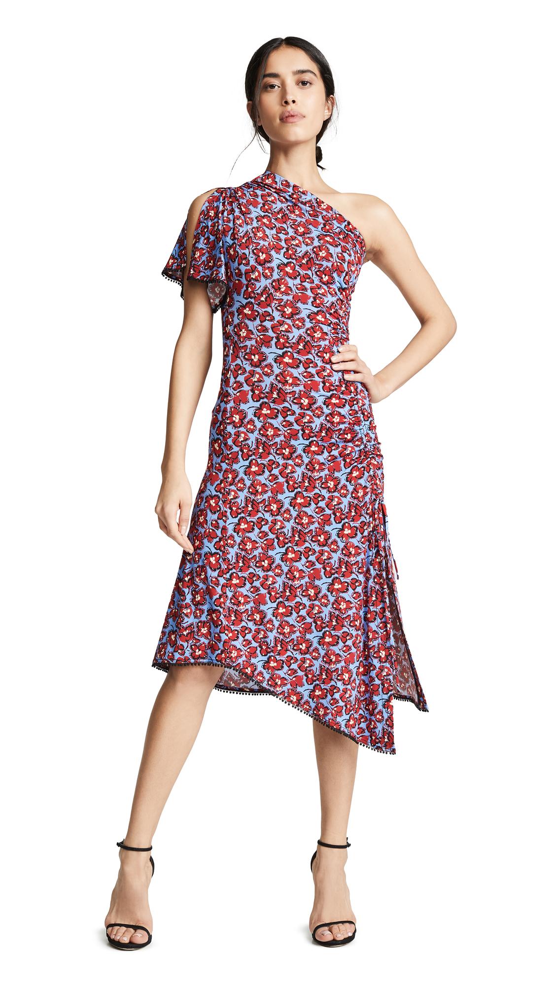 Derek Lam 10 Crosby Asymmetrical One Shoulder Dress - Periwinkle