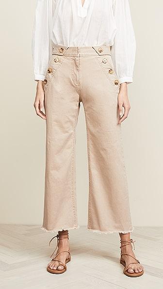 Derek Lam 10 Crosby Pants SLIM CULOTTE PANTS