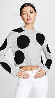 Derek Lam 10 Crosby Укороченный свитер в горошек