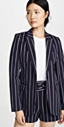 Derek Lam 10 Crosby Blazer with Contrast Rib Trim
