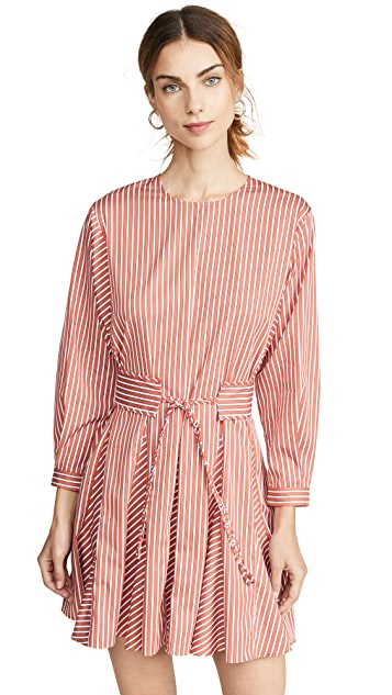 Derek Lam 10 Crosby Long Sleeve Godet Skirt Dress