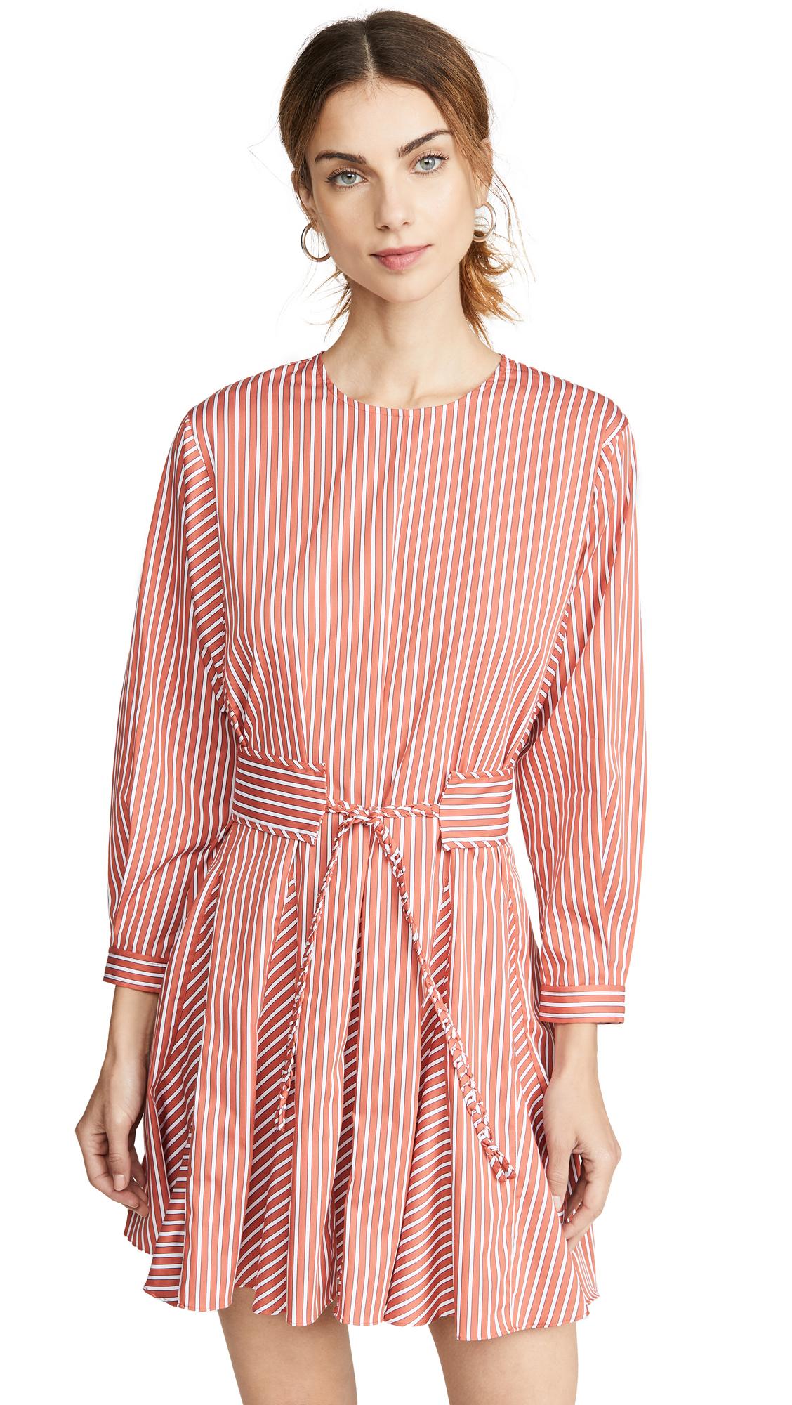 Buy Derek Lam 10 Crosby online - photo of Derek Lam 10 Crosby Long Sleeve Godet Skirt Dress