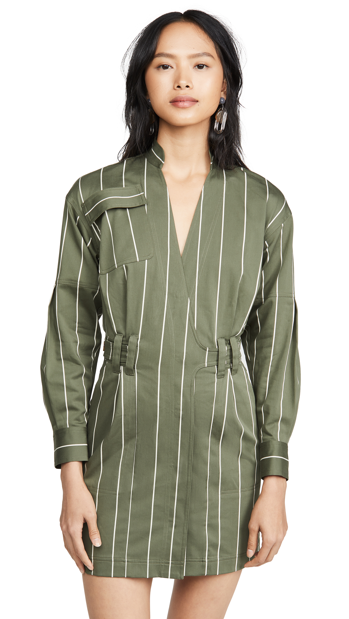 Buy Derek Lam 10 Crosby online - photo of Derek Lam 10 Crosby Utility Wrap Dress