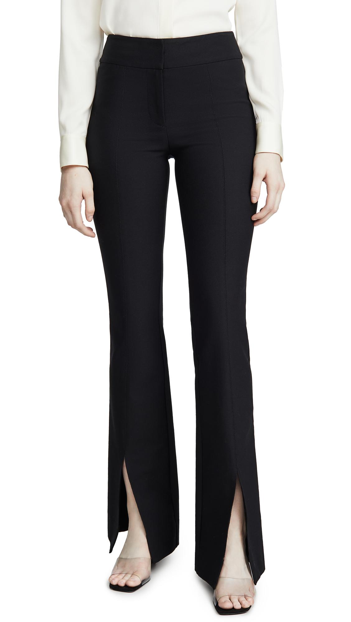 Buy Derek Lam 10 Crosby online - photo of Derek Lam 10 Crosby Maeve Slit Hem Flare Trousers