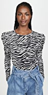 Derek Lam 10 Crosby Amara Long Sleeve Puff Shoulder Tee