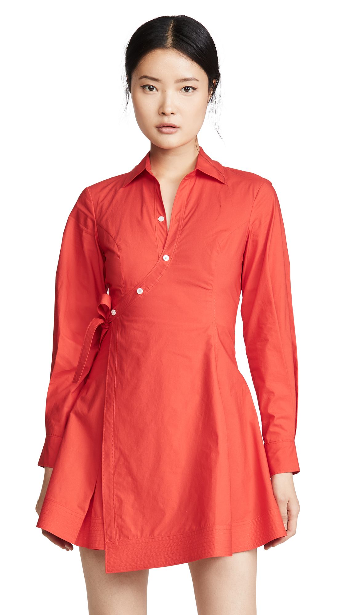 Derek Lam 10 Crosby Petra Wrap Shirtdress - 40% Off Sale