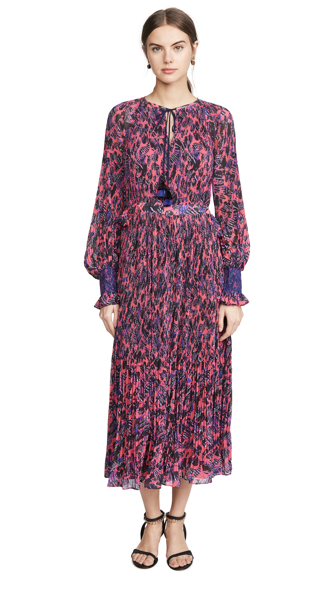 Derek Lam 10 Crosby Nemea Pleated Maxi Dress with Smocking Detail - 40% Off Sale