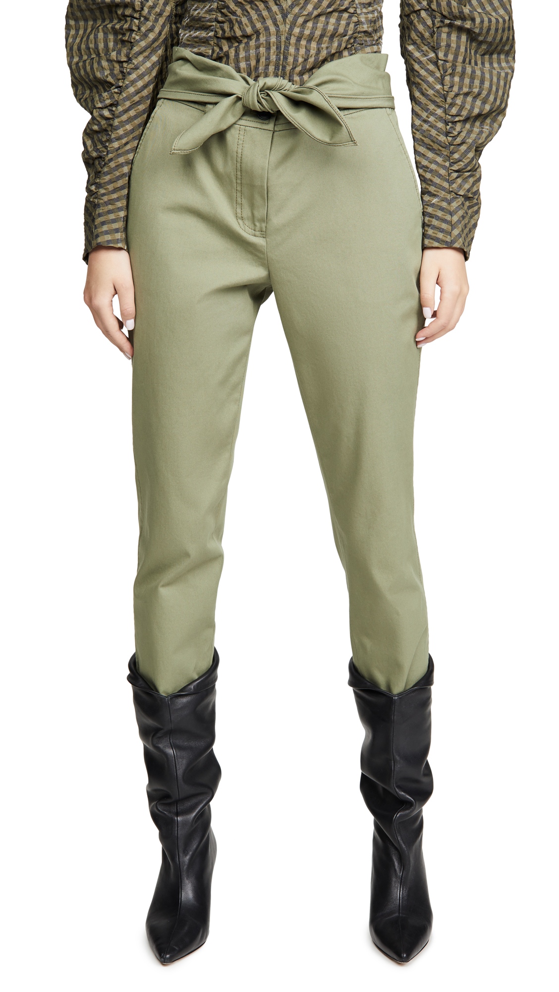 Buy Derek Lam 10 Crosby online - photo of Derek Lam 10 Crosby Leda Tie Waist Trousers