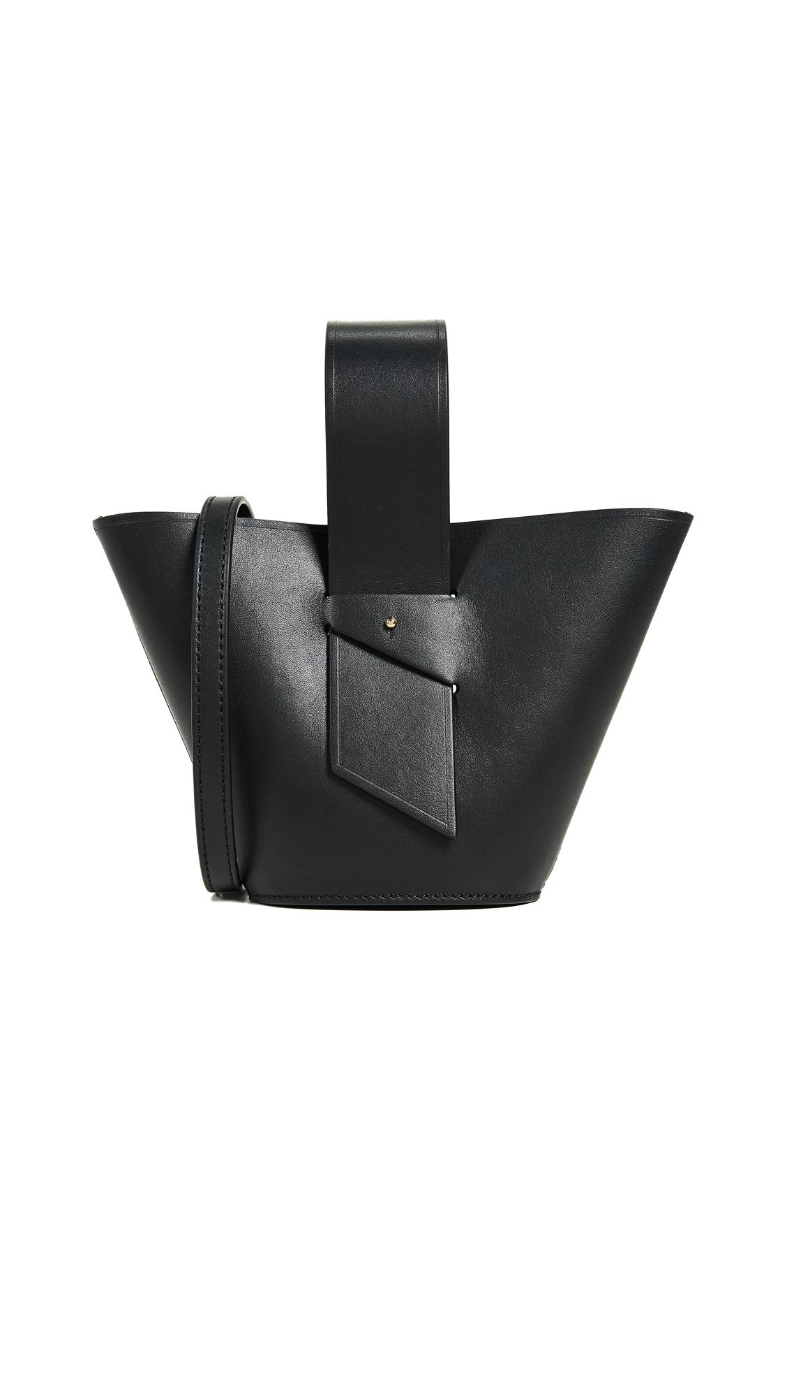 Carolina Santo Domingo Amphora Mini Adjustable Cross Body Bag - Black
