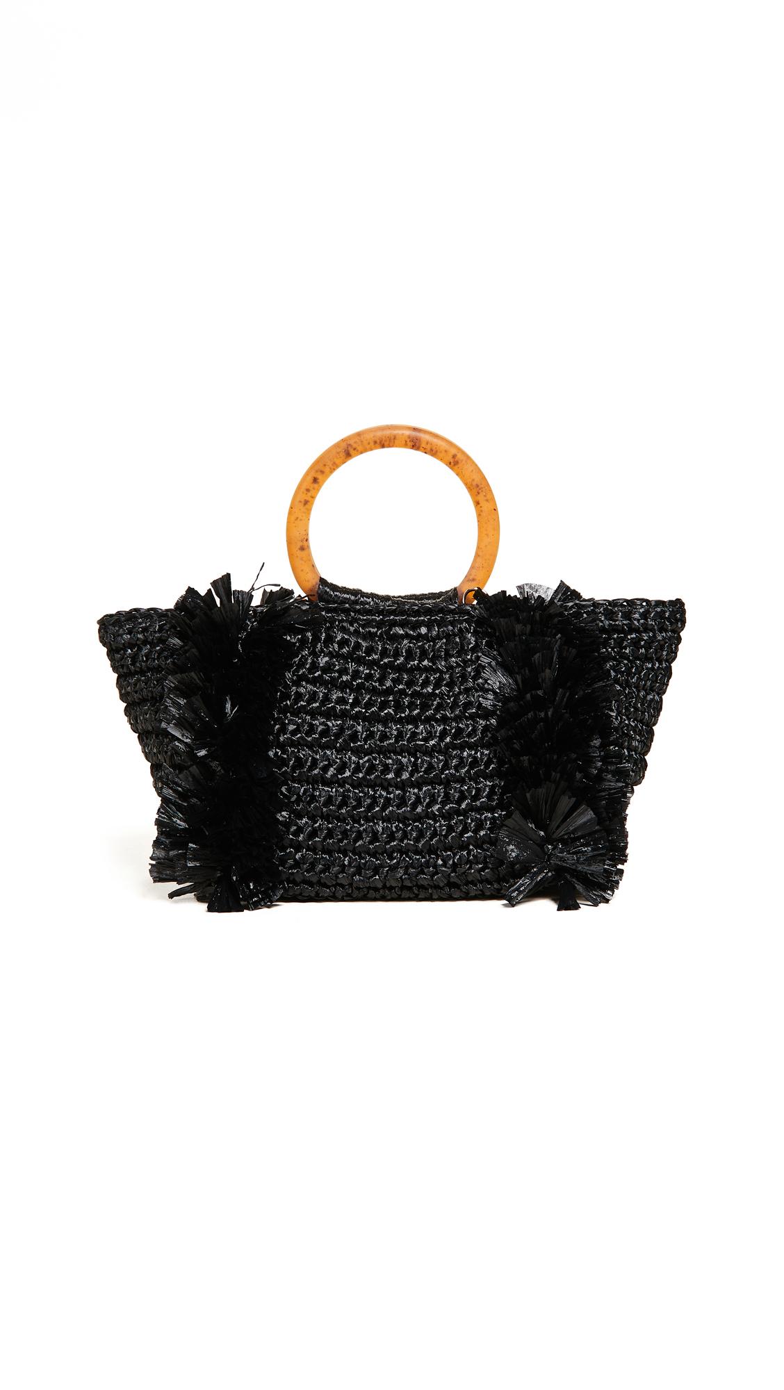 Carolina Santo Domingo Corallina Ring Tote - Black