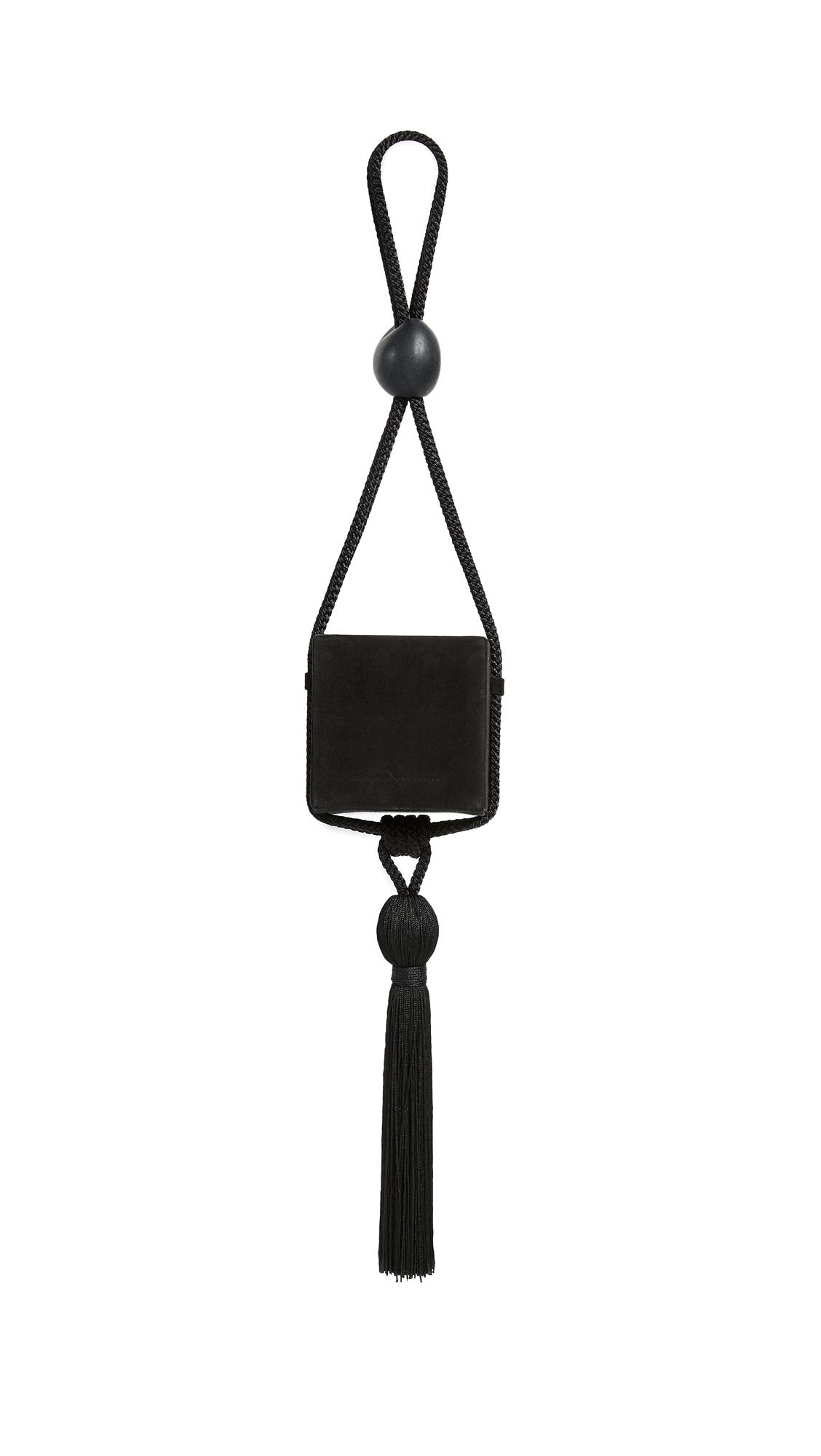 Carolina Santo Domingo Eva Box Tassel Bag - Black