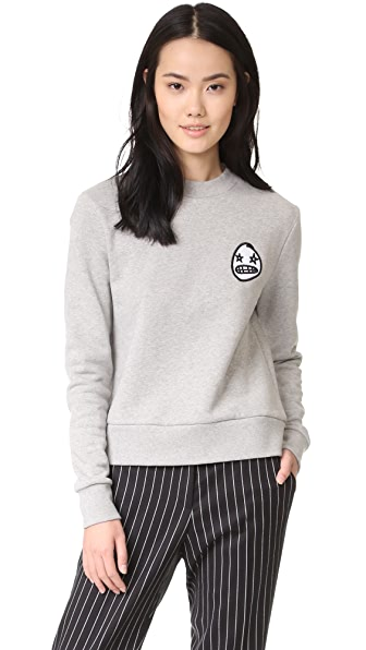 Etre Cecile Starry Eye Badge Sweatshirt