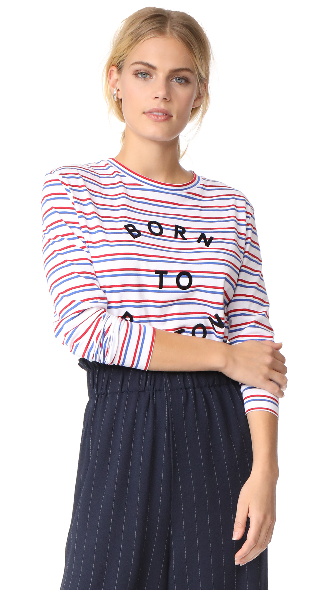 Etre Cecile Long Sleeve T-Shirt - Double Breton Stripe