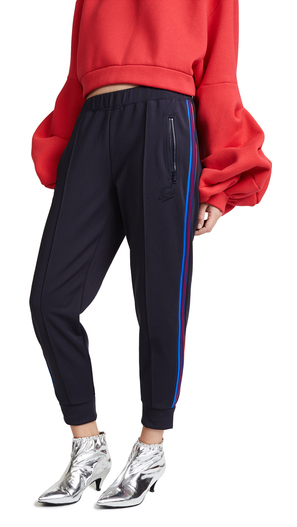 Etre Cecile Stripe Track Pants - Dark Navy